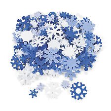 200 Winter SNOWFLAKE Foam Snowflakes Christmas Cards CRAFTS FROZEN PARTY DECOR