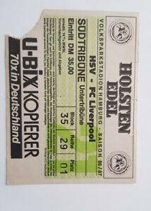 Hamburg v Liverpool 86-87 Ticket