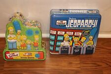 THE SIMPSONS TRIVIA DELUXE JEOPARDY TIN BOARD GAME LOT FAMILY FUN NIGHT