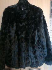 Ladies Faux Fur Black Jacket Size 12