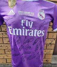 Real Madrid Personally Hand Signed Team Champions League Jersey 2017 + Coa