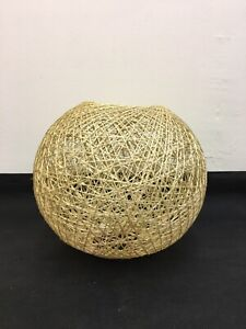 Twine Lampshade Tiki Boho Country Chic 20cm Natural Brown Woven Wicker