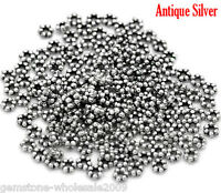NEW Wholesale Lots W09 Silver Tone Daisy Spacer Beads 3mm Dia DIY Jewelry.
