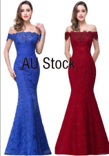 Evening Long Prom Dresses Formal Party Gown Bridesmaid Mermaid Dress AU STOCK