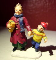 Grandeur Noel Village Victorian Grandmother and Grandson Christmas 2001 mini