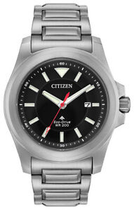 Citizen Eco-Drive Men's Promaster Date Silver-Tone Band 42mm Watch BN0211-50E