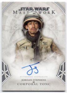 2018 Star Wars Masterwork Autographs A-JST Jordan Stephens Corporal Tonc Auto