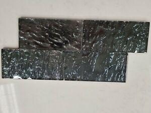 Emser Vista Certosa Dark Green Glass 3x6 Subway Tile