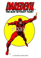 1978 Marvel CIRCLE PRINT featuring DAREDEVIL Man Without Fear