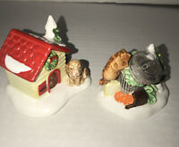 Mint Dept 56 Cat and Dog (set of 2) Snow Village Retired 1992 w/box
