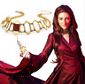 Game of Thrones Season8 Melisandre Red Stone Gold Necklace Chain Metal Pendant