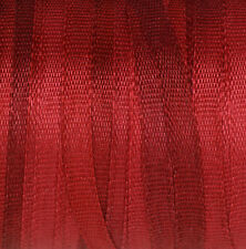 Red Silk Ribbon 100% Pure 2mm Embroidery - Deep Carmine Fine Narrow Thin - 3 mtr