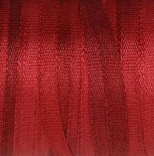 Rouge Ruban de soie 100% Pure 2 mm broderie-Deep Carmine Fine Étroit Mince - 3 mètres