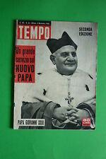 TEMPO N.45/1958 PAPA RONCALLI GIOVANNI XXIII ZSA ZSA GABOR GASSMAN SOFIA LOREN