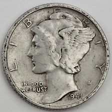 1941-d Mercury Head Dime. Error. Doubling in date. (Inv. F)