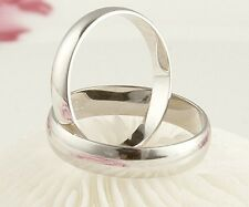 925 Sterling Silver 4mm Wedding or Friendship Band Ring Variety of Sizes
