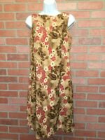 Tommy Bahama Womens Silk Dress Size 6 Sleeveless Shift Tropical Floral (F24)