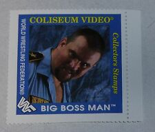Big Boss Man WWF 1993 Coliseum Video Collectors Stamp Card WWE Hall of Fame 2016