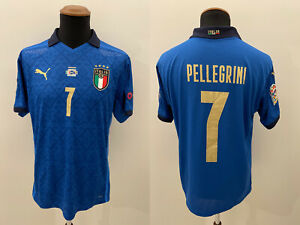 Pellegrini Italia Maglia INDOSSATA v Bosnia Nation League 2020 Match Worn Shirt