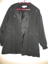 Antonio - Women's Black Thick Winter Jacket. Long, Zip-Up, Drawstring. Size - M.