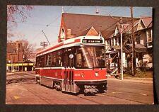 1980s XL Transit Light Rail Trolley Midas Toronto ON Canada Postcard Ontario