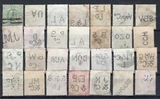 UK GB TWENTY EIGHT DIFF. PERFIN STAMPS 1/2p USED KEVII #34