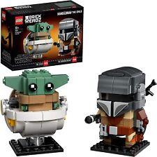 LEGO Star Wars BrickHeadz - El Mandaloriano y El Niño, Set de Construcción Nuevo
