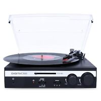 3-Speed USB Turntable Vinyl LP Record Player / Converter Built-in Speakers