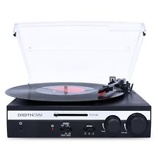 3-Speed USB Transfer to PC/Mac Turntable Vinyl LP Stereo Record Player Converter