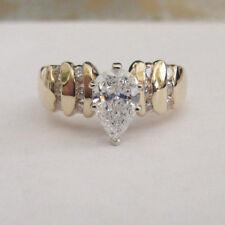 1.25 Carat 14K Gold Diamond Engagement Ring Center=1.00 E-VS2 Size 6 Value=$14K+