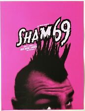 Original Sham 69 Poster, created for The Red Devil Lounge