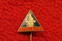 JIHLAVA town city Fountain Statue Triangle Pin Badge