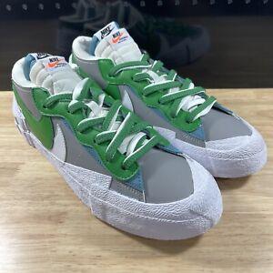 New Nike Blazer Low x Sacai Mens Sz 11.5 Classic Green Medium Grey