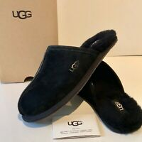 Women's UGG Black Slip On Slippers Size UK 5.5 and 6.5 Suede Pearle US 7 8 Box