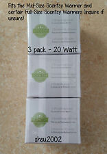 3 SCENTSY Light Bulbs -20 Watt-AUTHENTIC, Same Day Ship! (medium warmers only)