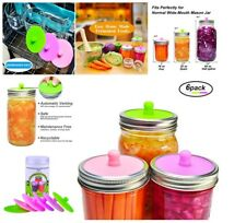 Fermentation Pickle Pipe Silicone Airlock Lids Wide Mouth Mason Jars BPA Free