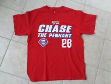 "PHILADELPHIA PHILLIES 2007 WORLD SERIES ""CHASE THE PENNANT 26"" T SHIRT SZ LARGE"