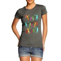 Twisted Envy Women's Archery Rainbow Silhouette T-Shirt