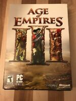 Age of Empires III 3 PC Game 2005 Complete Edition 3 Discs w/ Manual & Key