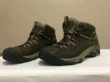 Keen Men's Targhee II Waterproof Mid- Hiking Boots Black Olive / Yellow - 12