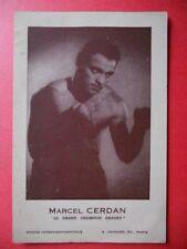 MARCEL CERDAN  -  Le Grand Champion Disparu..