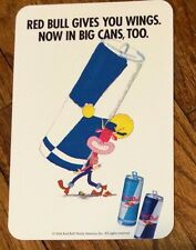 """2006 RED BULL """"Gives You Wings"""" Store Cooler Label 4x6 Unused"""