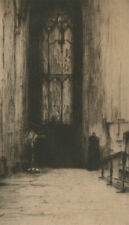 Margaret Aulton - 1913 Etching, St. Giles Cathedral Interior