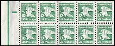US 2113a D Series Green Eagle 22c plate pane 10 P#3 MNH 1985
