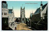 Postcard Guildhall Square Plymouth Devon (3-I)