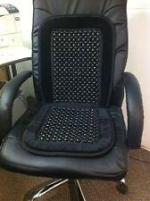 Noir à perles en bois Universel Voiture Taxi Van Cap Massage sur chaise coussin de siège couverture