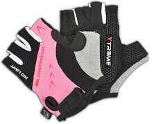Ladies Sports Cycling Outdoor Bike Half Finger Gloves Gel Padded Palm
