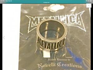 Metallica 2000 concert pewter ring size 8