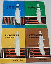 Bayonets of the World 4 Vol. Book Set P. Kiesling Illustrated Reference 1,2,3,4