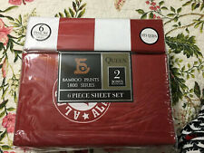 Alabama Sheets Bamboo Queen Size NEW